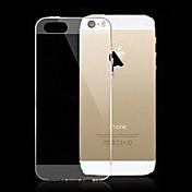 Para Funda iPhone 5 Ultrafina / Transparente Funda Cubierta Trasera Funda Un Color Suave Silicona iPhone SE/5s/5