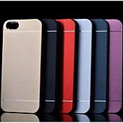 금속 마무리 아이폰 4 / 4S를위한 하드 커버 케이스 (모듬 색상)