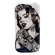 Patrón Tattoo Girl duro Volver Funda para el Samsung Galaxy S4 Mini I9190