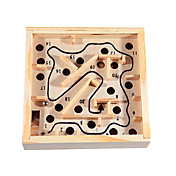 Children Rocking and Rolling Balls Wooden Maze Game Balance Exercise Educational Toys