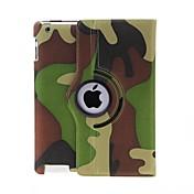 Kinston 360 astetta kääntyvä Camouflage Pattern PU Leather Full Body Case telineellä iPad 2/3/4