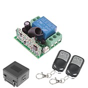 두 리모트 컨트롤러와 12V 1 채널 무선 원격 전원 릴레이 모듈 (DC28V-AC250V)