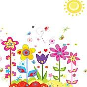 Doudouwo ® Florals 다채로운 정원 벽 스티커