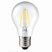 E26/E27 LED필라멘트 전구 G60 4 COB 400 lm 따뜻한 화이트 밝기조절가능 장식 AC 220-240 V
