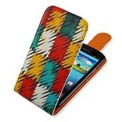 용 삼성 갤럭시 케이스 플립 / 패턴 케이스 풀 바디 케이스 기하학 패턴 인조 가죽 Samsung S3