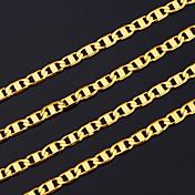 남성용 체인 목걸이 구리 도금 골드 금착 의상 보석 보석류 제품 파티 크리스마스 선물