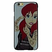 el patrón chica pc fahion pelo rojo duro caso cubierta trasera para iPhone 6