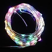 (100) 주도 5 색 빛 크리스마스 플래시 스트립 조명 램프 (DC 12V, 구리 선) 9.6W 10m