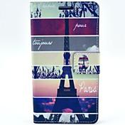 Para Funda LG Soporte de Coche / con Soporte / Flip Funda Cuerpo Entero Funda Torre Eiffel Dura Cuero Sintético LG LG G3