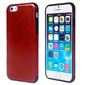 아이폰 6 / 6S에 대한 PU 가죽 케이스와 단색 TPU (모듬 색상)