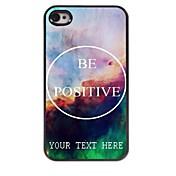 caja del teléfono personalizado - ser el caso del diseño de metal positivo para el iphone 4 / 4s