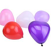globos en forma de corazón perlados tamaño extra grande (puede elegir el color, 50pcs)