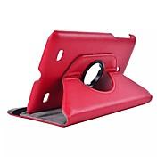 de cuero de la PU de 360 grados dengpin® caso de la cubierta del soporte del tirón de rotación para lg g cojín V400 7.0 7 '' tableta pulgadas