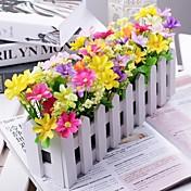 분기 폴리에스터 플라스틱 데이지 꽃 테이블  플라워 인공 꽃