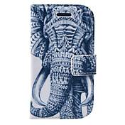 용 지갑 / 카드 홀더 / 스탠드 / 플립 / 패턴 케이스 풀 바디 케이스 코끼리 하드 인조 가죽 Samsung S3 Mini