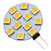 1.5W G4 LED 스팟 조명 12 SMD 5050 70 lm 따뜻한 화이트 / 차가운 화이트 AC 12 V