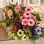 "12.9 ""l conjunto de 1 flores silvestres naturales de tela de seda de la margarita"