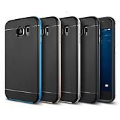 Teléfono Móvil Samsung - Cobertor Posterior - Puntos Redondos/Patrón de Cuadrícula/Nombre de Estilo Marca - para Samsung Samsung Galaxy S6