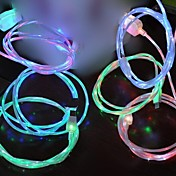 führte Kabel LED-Licht Micro-USB-Datenkabel Ladekabel für iPhone 5, iPhone 6 (1 m, 3 ft)