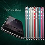 Para Funda iPhone 6 / Funda iPhone 6 Plus Ultrafina Funda Acolchada Funda Un Color Dura Aluminio iPhone 6s Plus/6 Plus / iPhone 6s/6