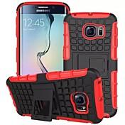 Para Funda Samsung Galaxy Antigolpes / con Soporte Funda Cubierta Trasera Funda Armadura Policarbonato Samsung S6 edge