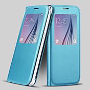 삼성 갤럭시 S6에 대한 화면 표시 PU 가죽 전체 바디 케이스 (모듬 된 색상)