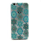 용 아이폰6케이스 / 아이폰6플러스 케이스 크리스탈 / 패턴 케이스 뒷면 커버 케이스 꽃장식 소프트 TPU iPhone 6s Plus/6 Plus / iPhone 6s/6