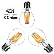 3개 ONDENN E26/E27 8W 8 COB 800 LM 따뜻한 화이트 A60(A19) edison 빈티지 LED필라멘트 전구 AC 220-240 / AC 110-130 V