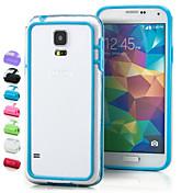 d grande del parachoques de manera transparente para el i9600 Samsung Galaxy s5