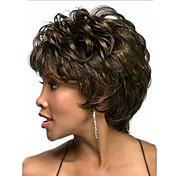 Mujer Pelucas sintéticas Sin Tapa Ondulado Natural Castaño Medio peluca de vestuario Las pelucas del traje