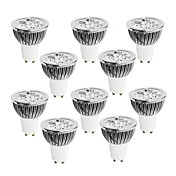 GU10 Focos LED 4 LED de Alta Potencia 400-450 lm Blanco Cálido Blanco Fresco Blanco Natural Regulable AC 100-240 V 10 piezas