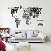 190cm * 116cm gran mapa del mundo pegatinas letras zooyoo95ab mapa natural Adhesivos de pared dormitorio arte originales