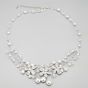 Gargantillas Collares Vintage / Collar con perlas Joyas Diario Moda Perla / Legierung / Perla Artificial Transparente 1 Set Regalo