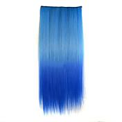 혼합 색상 스트레이트 헤어 피스 고온 섬유 합성 머리 확장