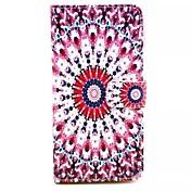용 삼성 갤럭시 케이스 카드 홀더 / 스탠드 / 플립 / 마그네틱 / 패턴 케이스 풀 바디 케이스 꽃장식 인조 가죽 Samsung A7 / A5 / A3