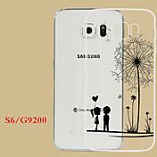 제품 삼성 갤럭시 케이스 케이스 커버 투명 엠보싱 텍스쳐 뒷면 커버 케이스 민들레 TPU 용 Samsung S6