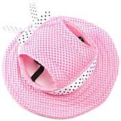 고양이 강아지 반다나&모자 강아지 의류 휴일 패션 솔리드 레드 블루 핑크 줄무늬 화이트/핑크