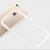 용 아이폰6케이스 아이폰6플러스 케이스 울트라 씬 투명 케이스 뒷면 커버 케이스 단색 소프트 TPU 용 iPhone 6s Plus iPhone 6 Plus iPhone 6s 아이폰 6