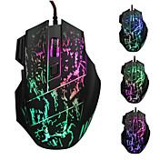 2015 새로운 도착 5500 dpi의 7 버튼은 프로 게이머를위한 광학 USB 유선 마우스 게이머 마우스 컴퓨터 마우스 게임 마우스를 주도