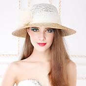Mujer Cestería Lino Celada-Casual Al Aire Libre Sombreros 1 Pieza