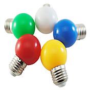 1w e27 5xsmd2835 lámpara de la burbuja de la bola del color 350lm llevó las bombillas (220v)