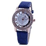 Mujer Reloj de Vestir Reloj de Moda Cuarzo La imitación de diamante PU Banda Café Rojo Verde Azul Rosa