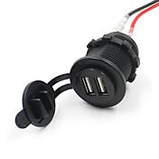 듀얼 USB 오토바이 휴대폰 전원 충전기 포트 방수 소켓 12V