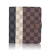 아이폰 기가 6 아이폰 7 플러스 4.7 인치 격자 패턴 고품질의 고급 PU 지갑 가죽 케이스 플러스