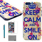 용 아이폰6케이스 / 아이폰6플러스 케이스 패턴 케이스 뒷면 커버 케이스 단어 / 문구 하드 PC iPhone 6s Plus/6 Plus / iPhone 6s/6