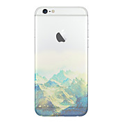 Para Funda iPhone 6 / Funda iPhone 6 Plus Transparente / Diseños Funda Cubierta Trasera Funda Paisaje Suave TPUiPhone 6s Plus/6 Plus /