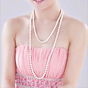 Gargantillas Strands Collares / Collar con perlas Joyas Boda / Fiesta / Diario / Casual Moda Perla / Perla Artificial Plateado 1 pieza