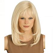무료 쾅 금발 긴 고품질의 천연 스트레이트 머리 합성 가발