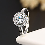 Statement Rings Zircon Cubic Zirconia Rhinestone Alloy Fashion Silver Golden Jewelry Wedding Party Daily Casual 1pc