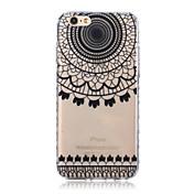 Para Funda iPhone 6 / Funda iPhone 6 Plus Transparente / Diseños Funda Cubierta Trasera Funda Diseño de Encaje Suave TPUiPhone 6s Plus/6